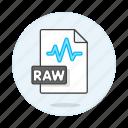audio, digital, file, format, music, raw, sound, wave icon