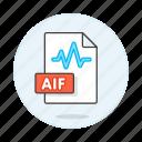 aif, music, digital, format, wav, file, sound, audio, wave icon