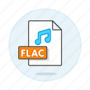 audio, digital, file, flac, format, music, note, sound icon