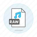 audio, digital, file, format, music, note, raw, sound icon