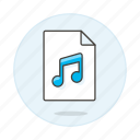 audio, digital, file, format, music, note, song, sound icon