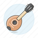 1, acoustic, banjo, benjo, instruments, music, plucked, string, wooden icon