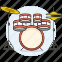 drum, instruments, music, percussion, set icon
