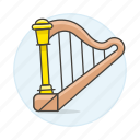 harp, instruments, music, plucked, string icon