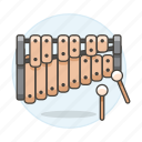 2, instruments, mallets, music, percussion, xylophone icon