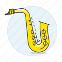 reed, brass, saxophone, wind, instruments, music, woodwind icon