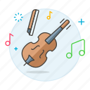 acoustic, bowed, instruments, music, string, violin, wooden icon
