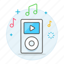 button, ipod, media, mp3, music, play, player, portable, song, touch icon