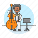 3, bass, bassist, double, full, male, music, musicians, orchestra, symphony icon