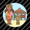 djembe, drum, female, hut, jamaica, jembe, music, musicians, reggae, show icon