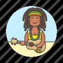 female, hawaii, jamaica, music, musicians, player, reggae, ukelele, ukulele icon