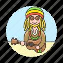 3, female, hawaii, jamaica, music, musicians, player, reggae, ukelele, ukulele icon