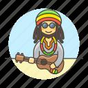 hawaii, jamaica, male, music, musicians, player, reggae, ukelele, ukulele icon