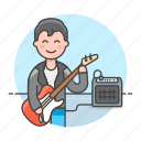 bass, bassist, guitar, male, music, musicians, player, rock, singer, star icon