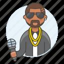 half, singer, single, artist, vocalist, music, musicians, male, microphone icon