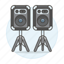 1, dj, music, speakers icon