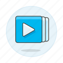 1, app, button, media, music, play, player, playlist, software, tracklist icon