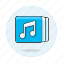 2, app, bar, double, media, music, note, player, playlist, software, tracklist icon