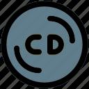 cd, music, filled, line, f