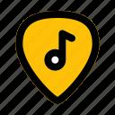 guitar, pick, music, filled, line, f