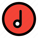 music, note, circle, filled, line, f
