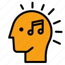 music, thought, song, head, note