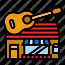 shop, music, store, multimedia, building
