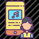 user, mobile