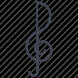 audio, key, media, multimedia, music, note, sound icon