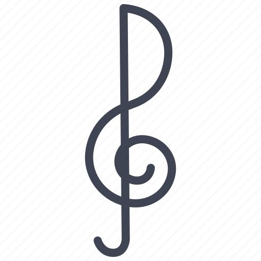 Key, music, note, audio, media, multimedia, sound icon - Download on Iconfinder