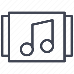 album, audio, media, multimedia, music, selection, sound icon