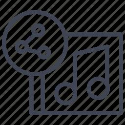 album, audio, media, multimedia, music, share, sound icon