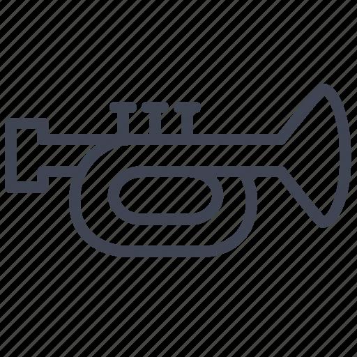 audio, instrument, music, musical, sound, trumpet icon