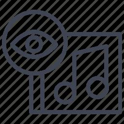 album, audio, media, music, sound, view icon