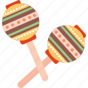 instrument, maracas, music, musical, play, sound icon