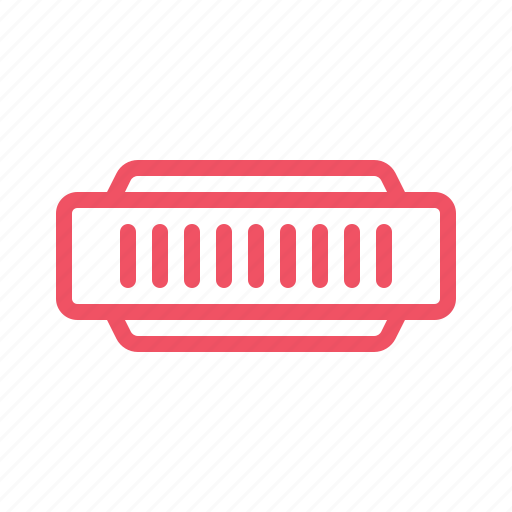 harmonica, instrument, music icon