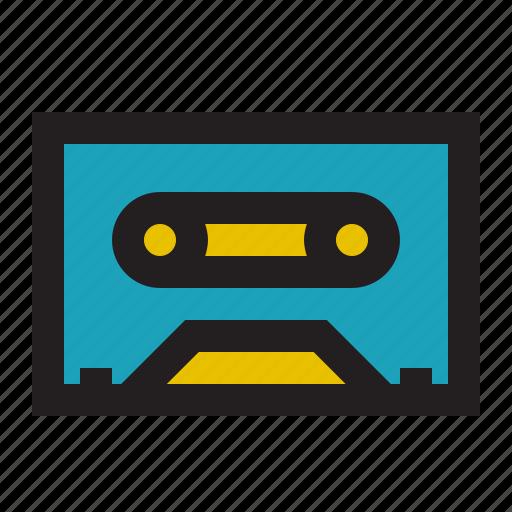 cassette, mix, recording, tape icon