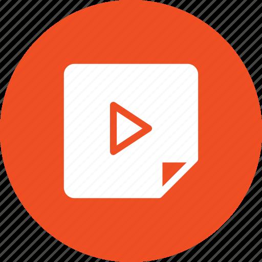 audio file, file, media, multimedia, video file icon