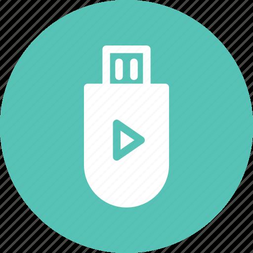 disk, drive, flash, music, play, storage icon