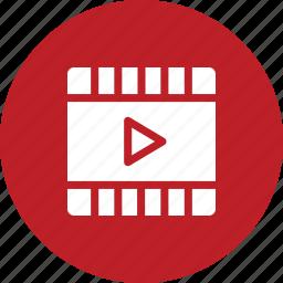 file, film, movie, play, player icon