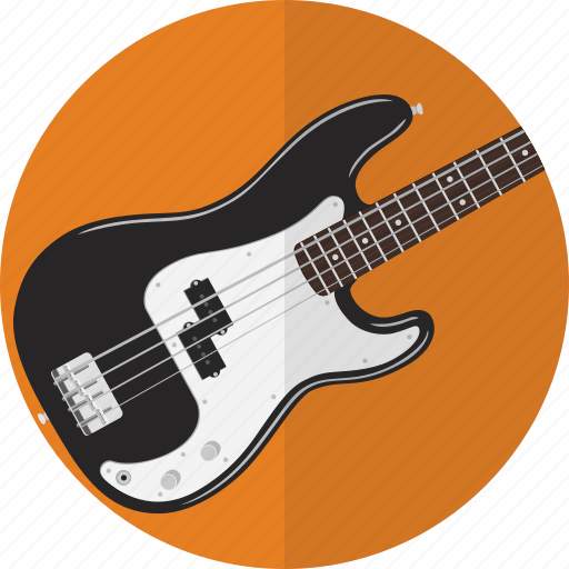 bass, electric, guitar, instrument, music icon