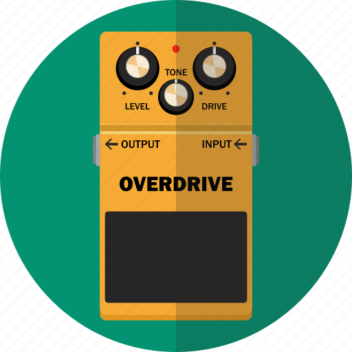 Audio Effect Guitar Music Overdrive Pedal Rock Icon