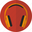 audio, headphone, headset, media, music, play, sound icon
