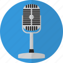 mic, microphone, retro, sound, talk, voice icon