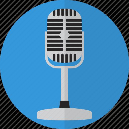 mic, microphone, retro, sound, talk, voice icon