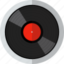 audio, disk, media, music, sound, vinyl icon