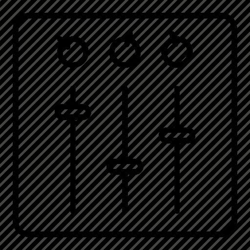 audio, control, dj, mixer, music, sound icon