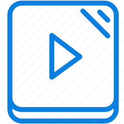 line, media, multimedia, music, play, player, video icon