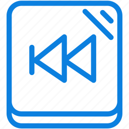 audio, back, line, music, player, rewind, sound icon