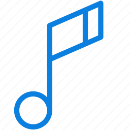 audio, line, music, music note, note, sound icon